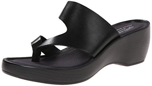 Eastland Women's Laurel Dress Sandal, Black, 10 M - Black Wedge Thong