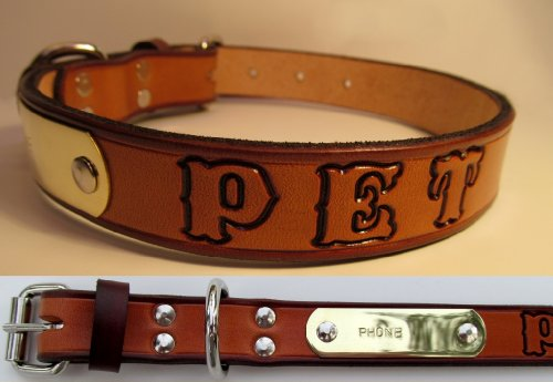 Western Leather Collar Name Plate product image