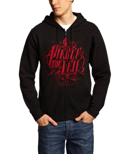 pierce the veil logo new official men zipped hoodie all sizes