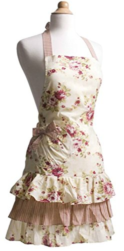 Flirty Aprons Women's Marilyn Venetian Rose Apron