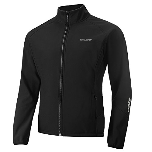 - Baleaf Men's Windproof Thermal Softshell Cycling Winter Jacket Black Size L