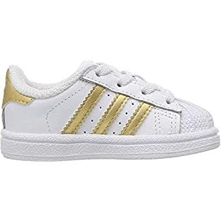 adidas Originals Kid's Unisex Superstar  White/Black/White 3.5