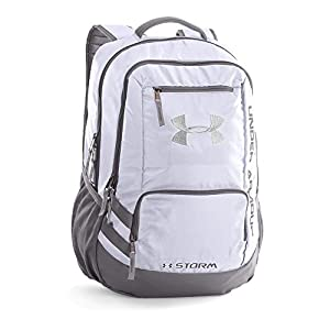 Under Armour Storm Hustle II Backpack, White/Graphite, One Size