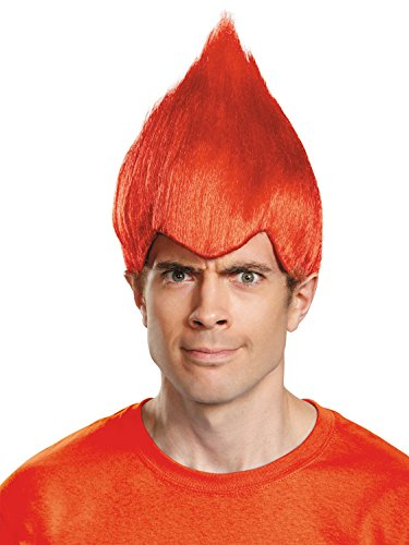 Red Wacky Troll Doll Wig (Halloween Troll Doll Costume)
