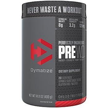 Dymatize Pre Workout Supplement Powder, Maximize Energy & Strength, Chilled  Fruit Fusion, 400 Gram