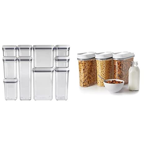 OXO Good Grips 10 Piece POP Container Set, White And OXO Good Grips 3
