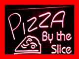 OPEN Pizza By The Slice Cafe Shop LED Sign Night Light i306-r(c)