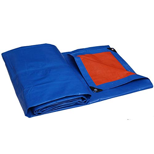 ZHANGQIANG Tarpaulin Waterproof Heavy Duty | Premium Quality Blue Tarp Sheet Cover | Made of 175gram/Square Metre Tarpaulin (Color : A, Size : 64m)