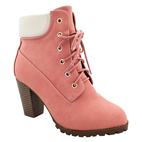 Women (Lace Up Pink Boots)