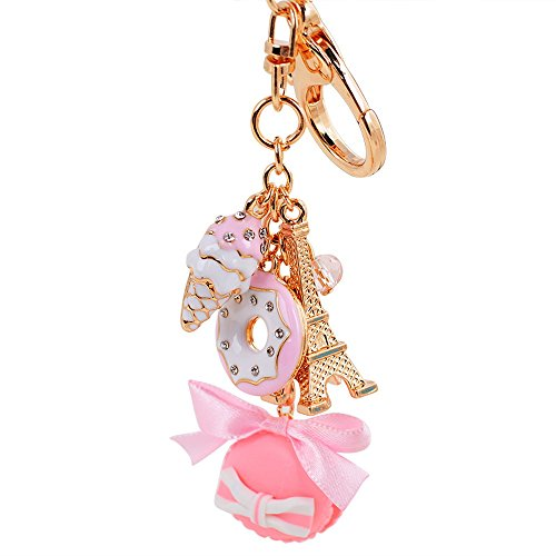 Giftale Hamburger Handbag Accessories Ice cream Key Chain for Women Pink Bag Charms,#619-2 -