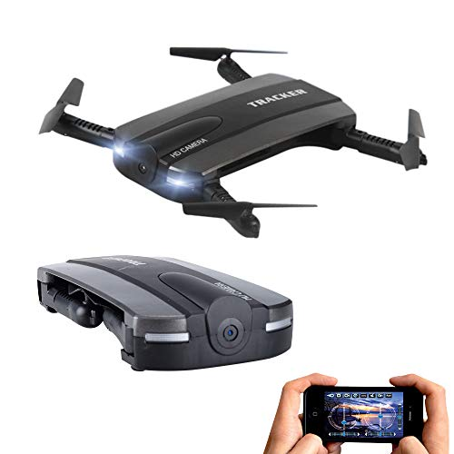 Price comparison product image JXD 523 Tracker HD Camera WiFi Selfie Quadcopter Foldable Pocket Drone / Air Pressure Altitude Hold / Headless Mode / One Key Landing / One Key Take Off