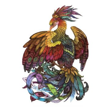 Oottati Old School Phoenix Peacock Arm Temporary Tattoo