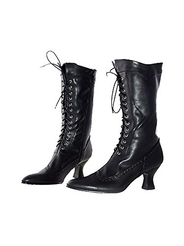(Ellie Shoes Amelia Black Boots (Adult Boots) Women's (Size 7) Women's Costume)