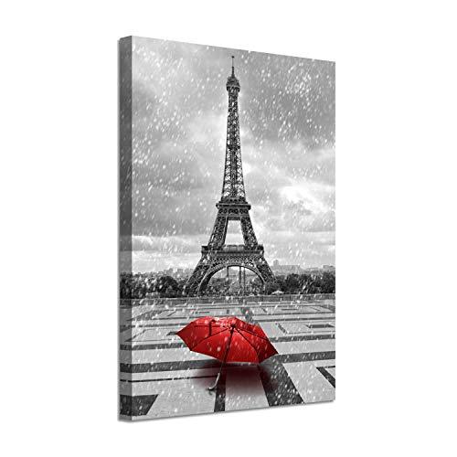 (Cityscapes Art Paris Landscape Picture: Eiffel Tower Graphic Print on Canvas)