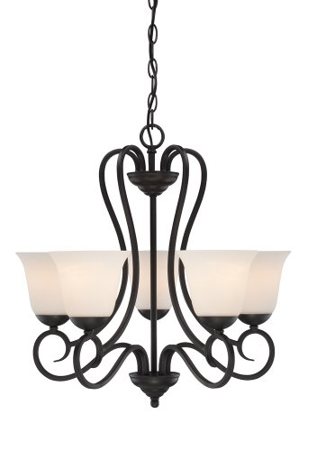 Designers Fountain 85285-ORB Addison 5 Light Chandelier, Oil Rubbed Bronze
