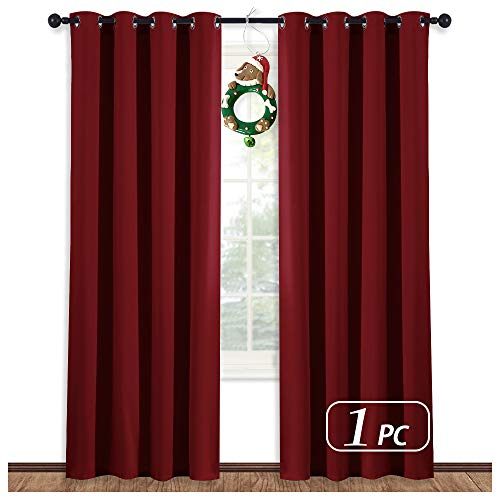 NICETOWN Burgundy Curtains (Burgundy Red) Home Decor Energy Smart Thermal Insulated Window Treatment Drape/Drapery for Thanksgiving Day Present, 52x84 Inch,1 Piece