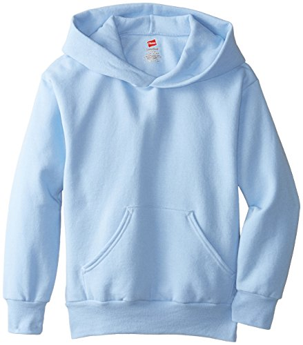 Out Kids Sweatshirt - Hanes Big Boys' Eco Smart Fleece Pullover Hood, Light Blue, X-Large