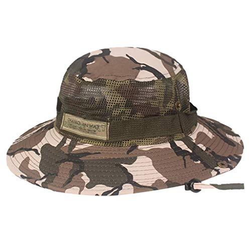 JIUDASG Summer Camouflage Fisherman Hat Outdoor Mountaineering Hat Visor Hat
