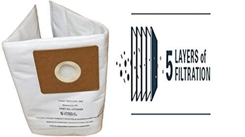 Shop-Vac 9066800 2-2.5 Gallon Kidney B All Around HEPA FILTRATION Collection Bag, 3-Pack by Casa Vacuums