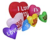 6 Foot Long Valentines Day Inflatable Love Hearts Cloud Yard Blow Up Decoration, Romantic Sweet Valentines Gift for Couples, Cute Gift Idea