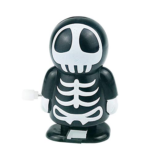 Gbell Halloween Scary Ghost Monster Clockwork Toys Gift - Wind Up Bounce Props Toy Jumping Skeleton Vampire for Kids Toddler Boys Girls Adults (B)
