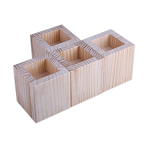Acdibca Bed Riser Furniture Lift Bed Frame Risers Create Under Bed Storage Heavy Duty Homewares Wood Bed Lifters, Set of 4 by Acdibca (Image #2)