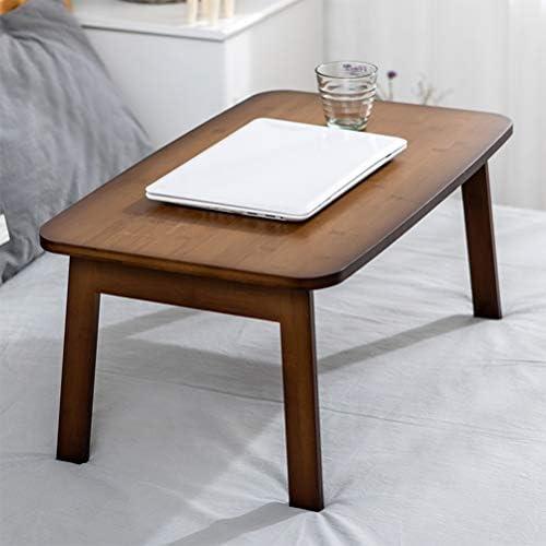 折りたたみ式ラップデスクラップトップベッドトレイテーブル多機能ラップデスクテーブル、折りたたみ式ベッドトレイ調節可能な朝食ディナーサービングベッドトレイ折りたたみ式脚付きポータブルラップデスク (Color : Brown)