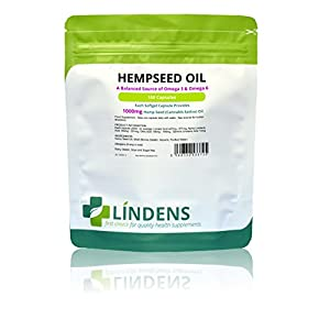 Lindens Hemp Seed Oil 1000mg Capsules (100 Pack)