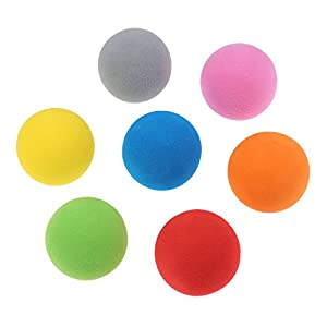 20 pcs Seven Colors Foam Golf Ball Indoor Exercise Ball Eva Solid Color