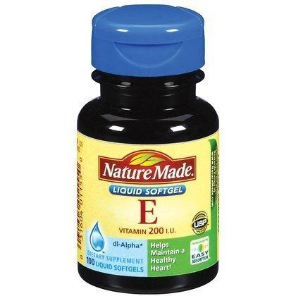 Nature Made Vitamine E -- 200 IU - 100 Liquid Softgels (Pack of 2)