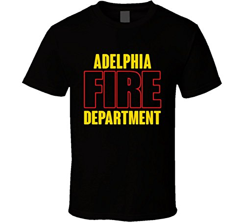 Adelphia Fire Department Personalized City T Shirt 2XL Black