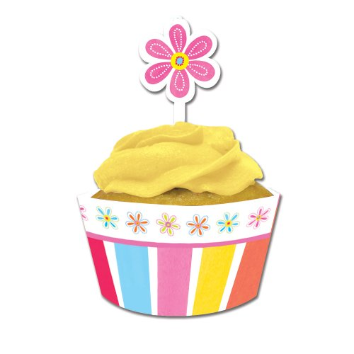 Creative Converting Flower Cupcake Wrappers