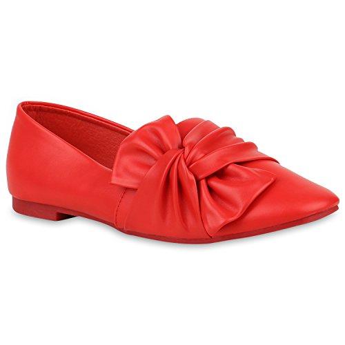 Damen Slipper Loafers Schleifen Glitzer Flats Profilsohle Schuhe