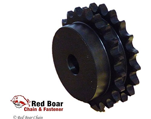 D80B32H-PB Duplex B Plain Bore Sprocket 1-1/4'' Bore and 1'' Pitch by RED BOAR Chain