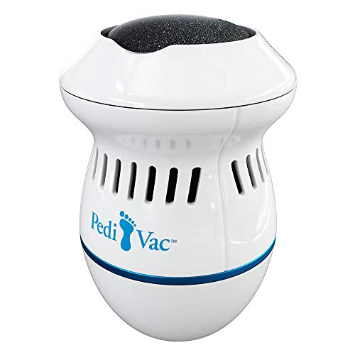 Pedi Vac by means of Ped Egg - Callus Remover for Feet with Built-in Vacuum Removes Dead Skin from Feet with 2000 RPMs - Electric Callus Remover Sucks Up Shavings for Mess-Free Exfoliation