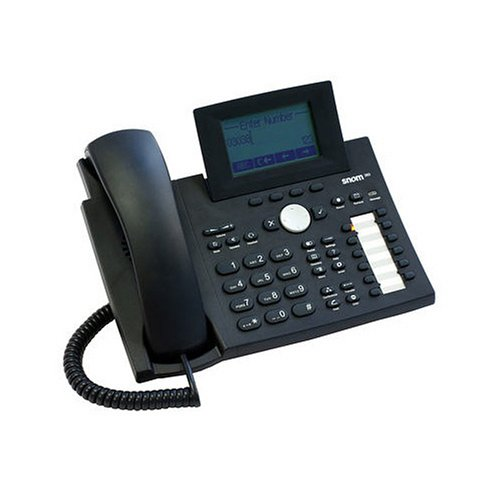 Snom 360 Black Business Phone with Speaker, Tilt Graphic Display, Poe, 47 Keys –
