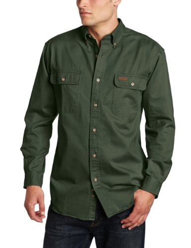 Carhartt Men's Oakman Sandstone Twill Original-Fit Work Shirt, Moss, Regular X Large