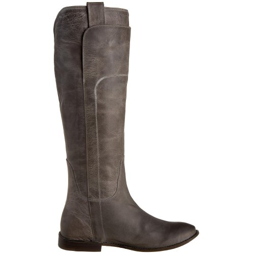 FRYE Women's Paige Tall Riding Boot Grey Burnished Leather-77534 vRdugX
