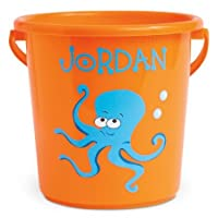 "Lillian Vernon Personalized Kids Fun-in-The-Sand Bucket - Beach Bucket is 7"" H, Great Boy"