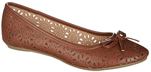 UNIONBAY Womens Tipper Flats Brown MRe2ZwC