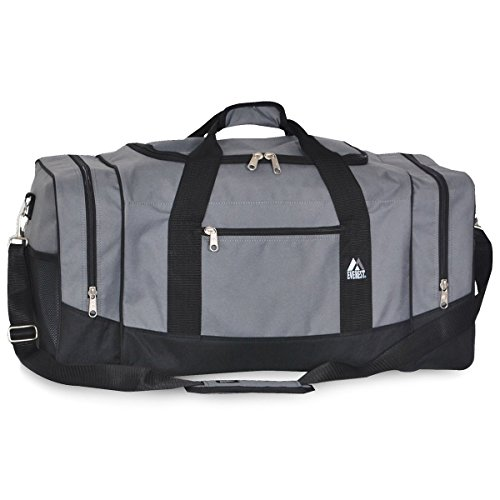 Everest Luggage Sporty Gear Bag - Large (One Size, Dark Gray) (Best Piece Of Exercise Equipment For Home Gym)