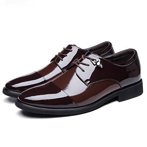 Da Casual Traspiranti Sposa Lace Uomo Scarpe Scarpe Formal Up Brown Classiche Shoes Da Fashion Uomo Antiscivolo Work Uniform Pointed Business Da HTTBwnEzx1