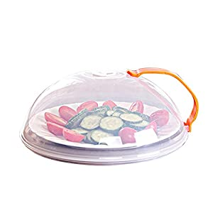 Yamde Domed Vented Microwave Cover with Handle