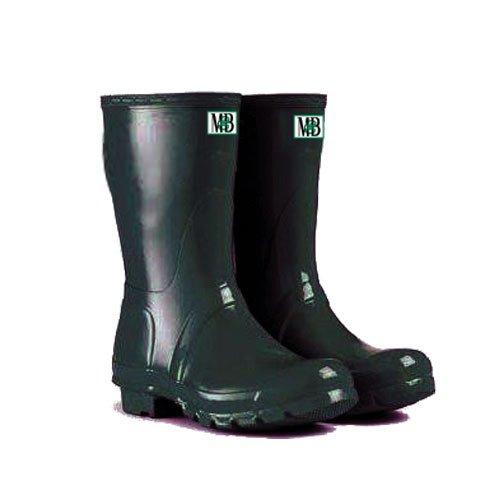 Moneysworth & Best Kid's Rubber Rain Welly Boots, 5, Forest Green