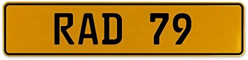 RAD 79 Vintage Parts 559032 Yellow Stamped Aluminum European Plate