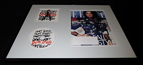 (Demi Lovato Signed Framed 16x20 Elle Canada Magazine Cover & Don't Forget CD Set)