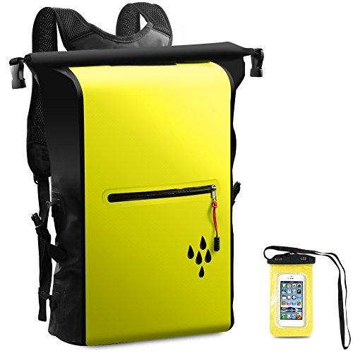 SNONNJ 防水 リュック バッグ リュックサック 大容量 25L スマホ用 防水ケース付き 登山 アウトドア サイクリング 海水浴 旅行 バッグ ザック バックパック