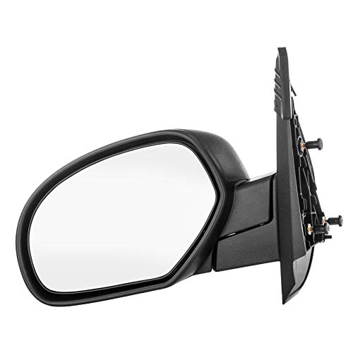 Dependable Direct Left Side Textured Non-Heated Manual Folding Manual Operating Mirror for 07-13 Chevy Silverado. 2008-2014 GMC Sierra - Parts Link #: GM1320332
