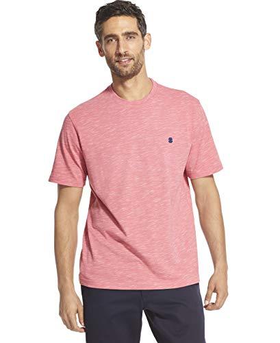 IZOD Men's Big and Tall Saltwater Short Sleeve Solid Slub T-Shirt, Rapture Rose, Large