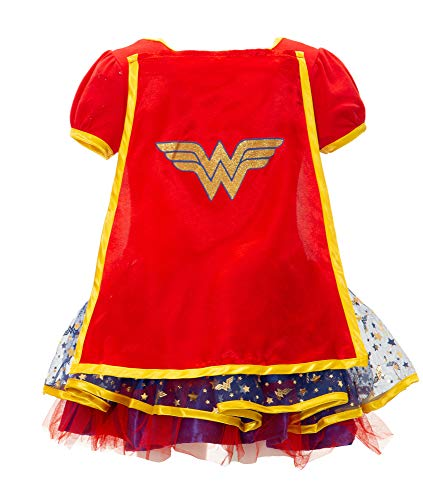 Wonder Woman Girls' Costume Dress with Tiara & Cape - coolthings.us